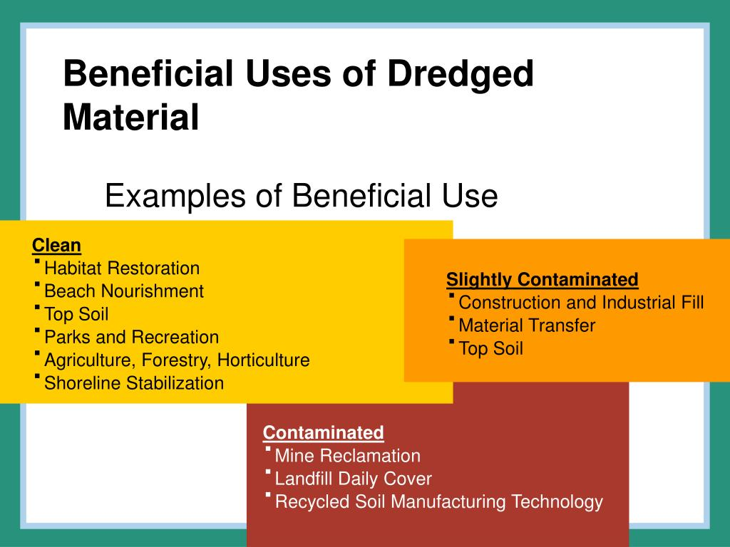 Beneficial Uses of Dredged Material