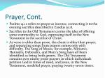 prayer cont