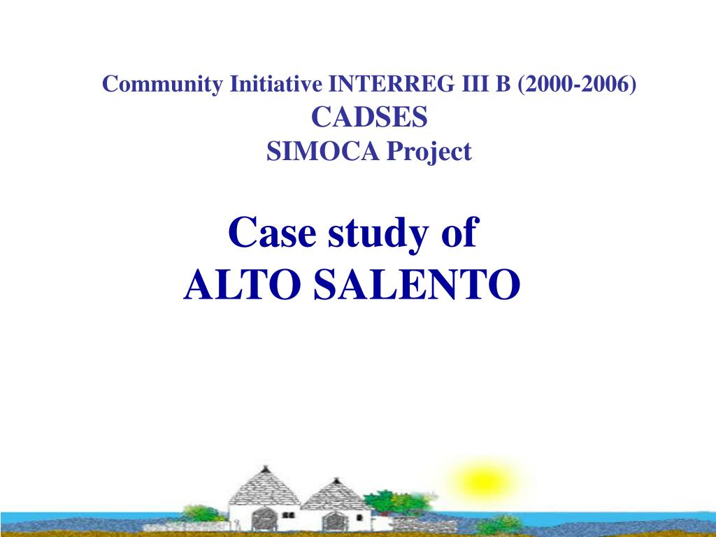 case study of alto salento l.