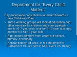 department for every child matters