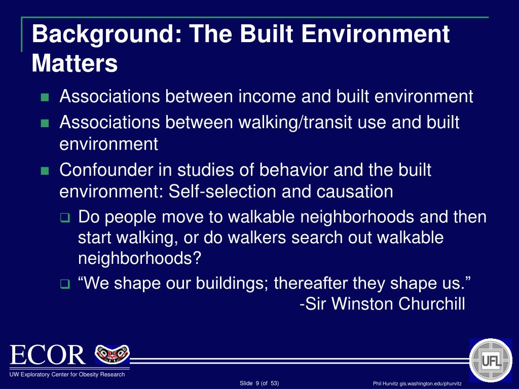Background: The Built Environment Matters