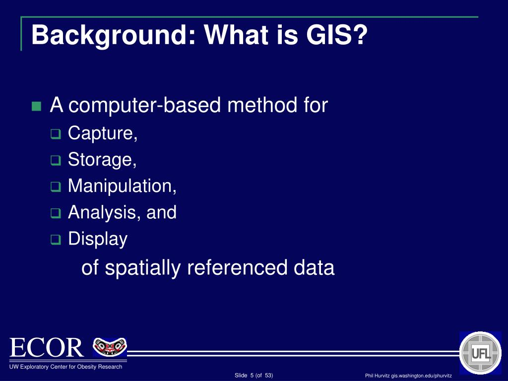 Background: What is GIS?