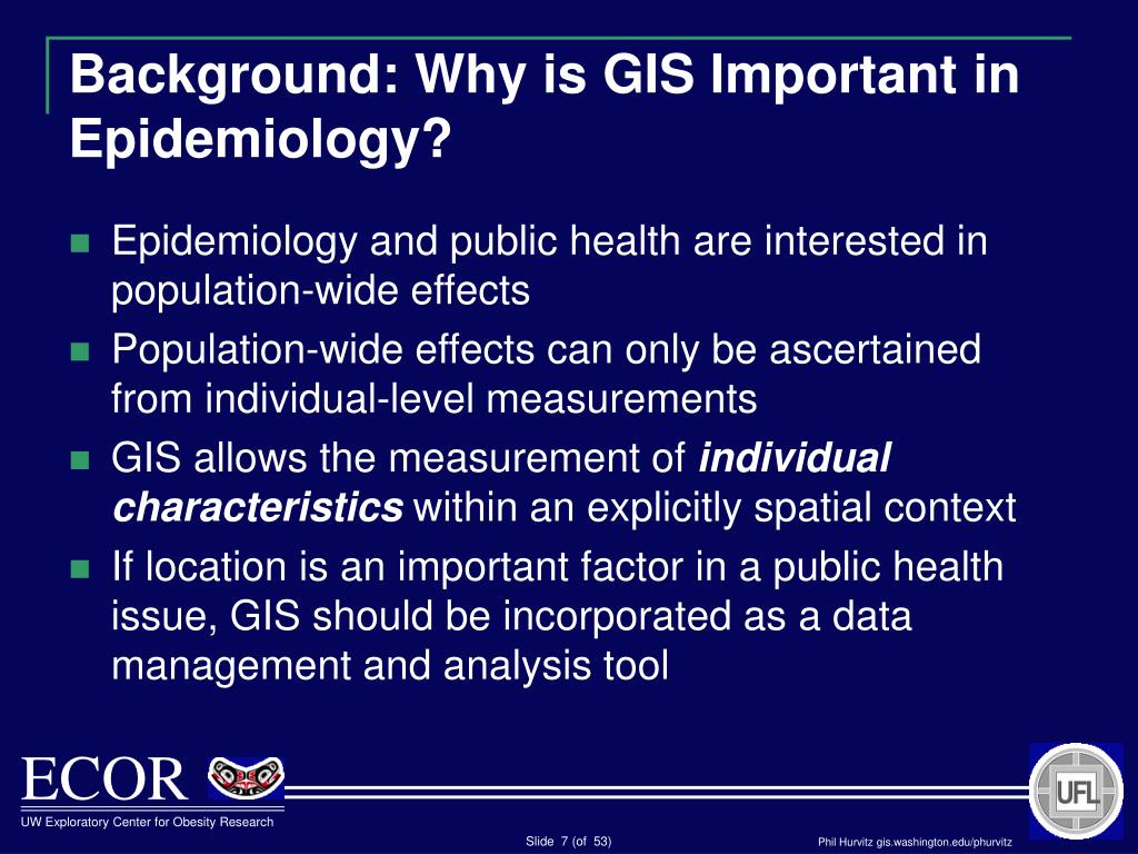 Background: Why is GIS Important in Epidemiology?