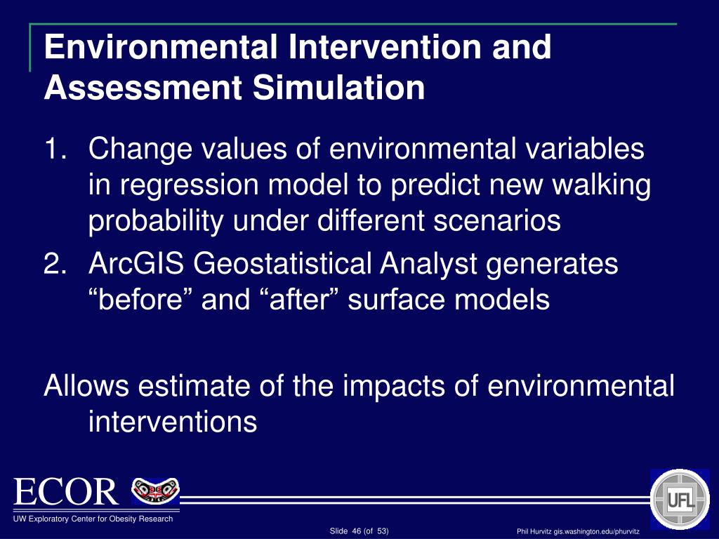 Environmental Intervention and Assessment Simulation