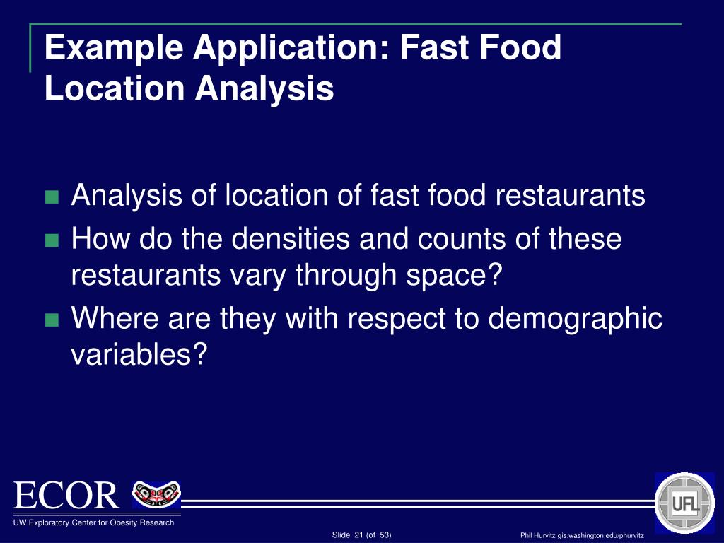 Example Application: Fast Food Location Analysis