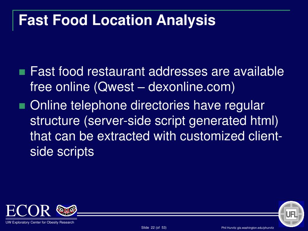 Fast Food Location Analysis