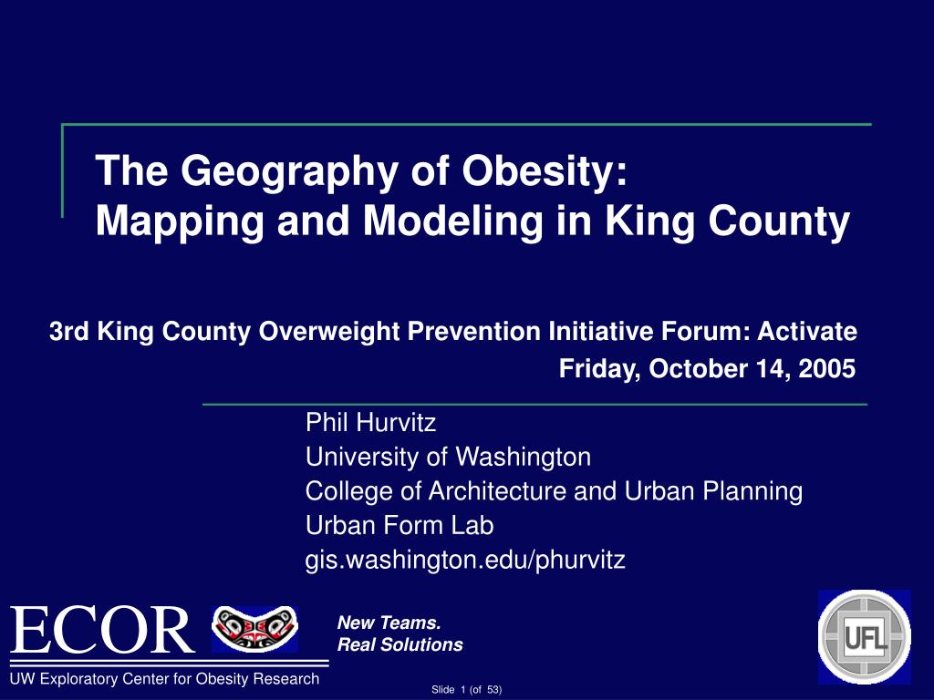 The Geography of Obesity:
