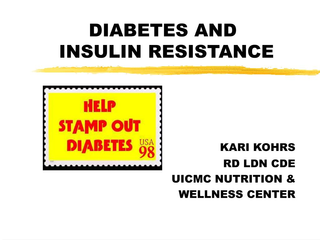 diabetes and insulin resistance l.