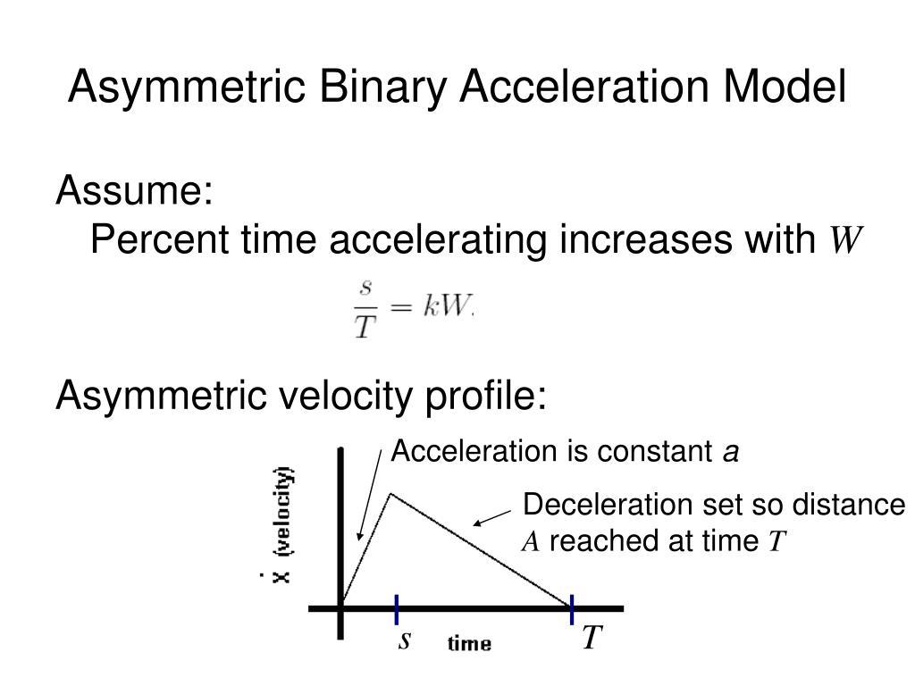 Asymmetric Binary Acceleration Model