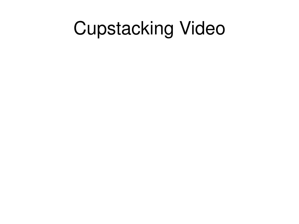 Cupstacking Video
