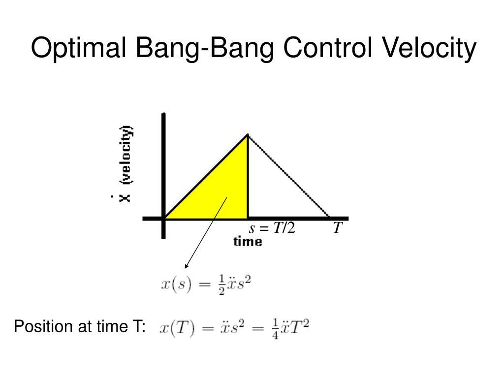 Optimal Bang-Bang Control Velocity