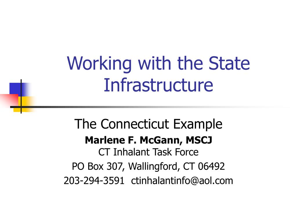 working with the state infrastructure l.