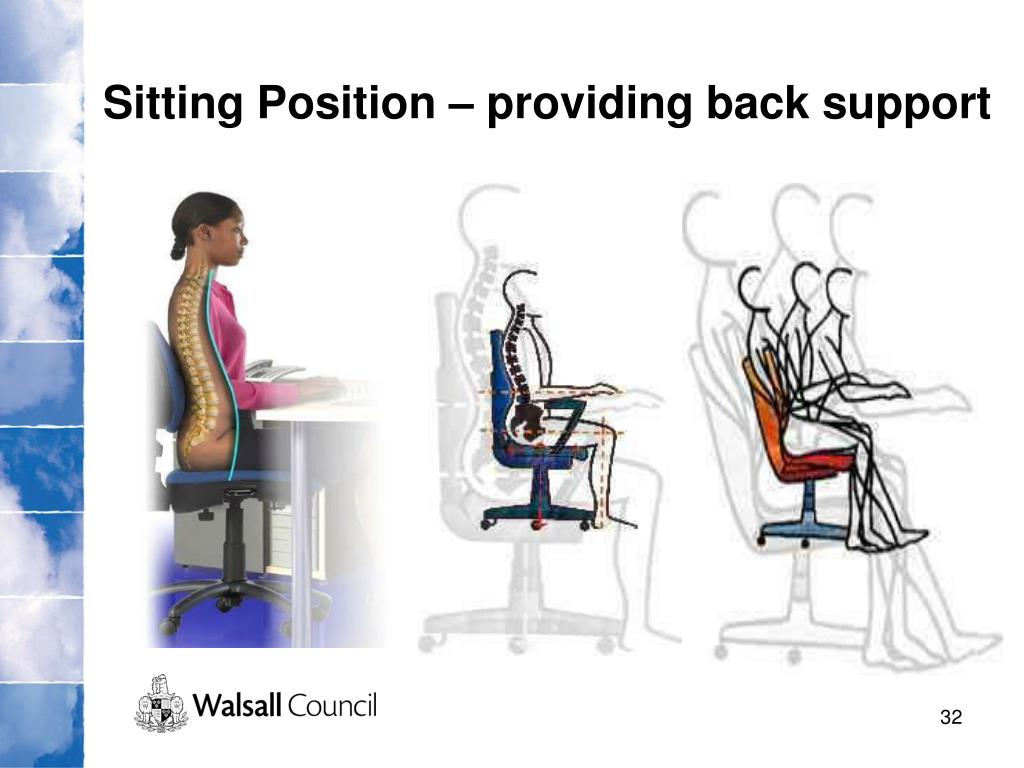 Sitting Position – providing back support