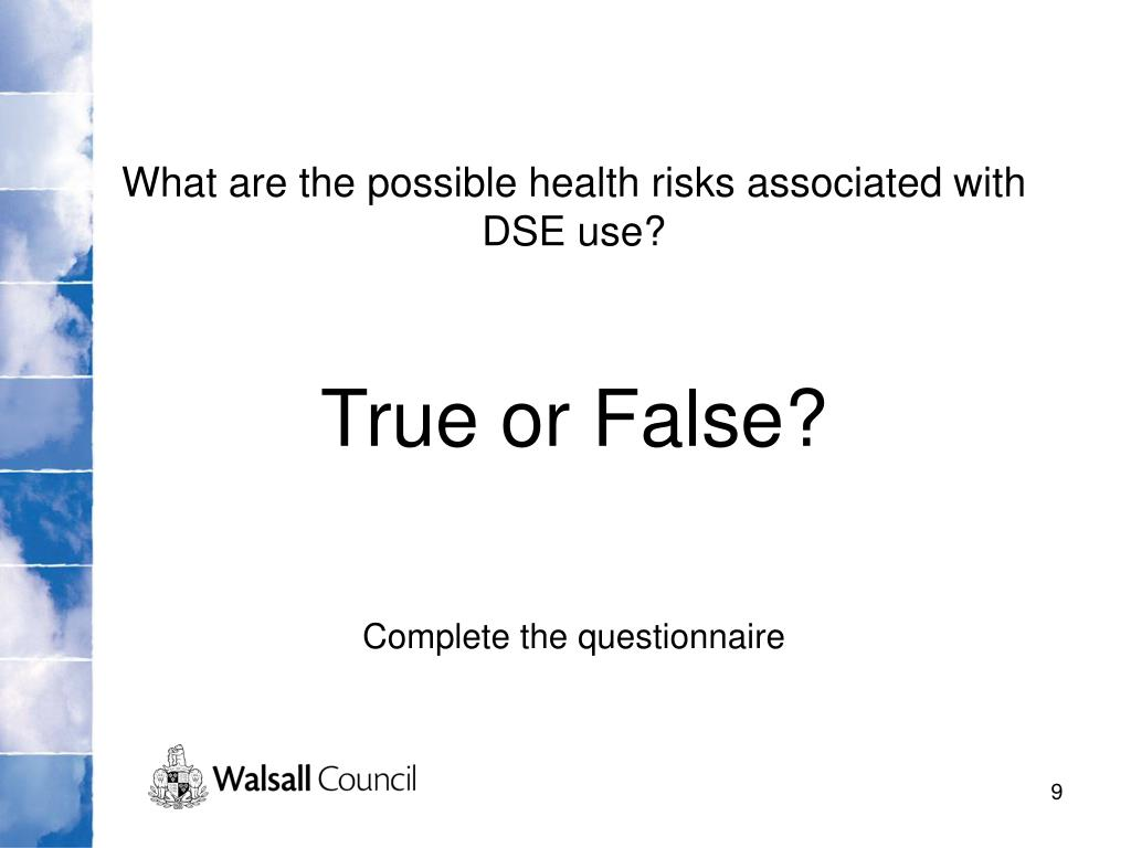 What are the possible health risks associated with DSE use?