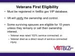 veterans first eligibility
