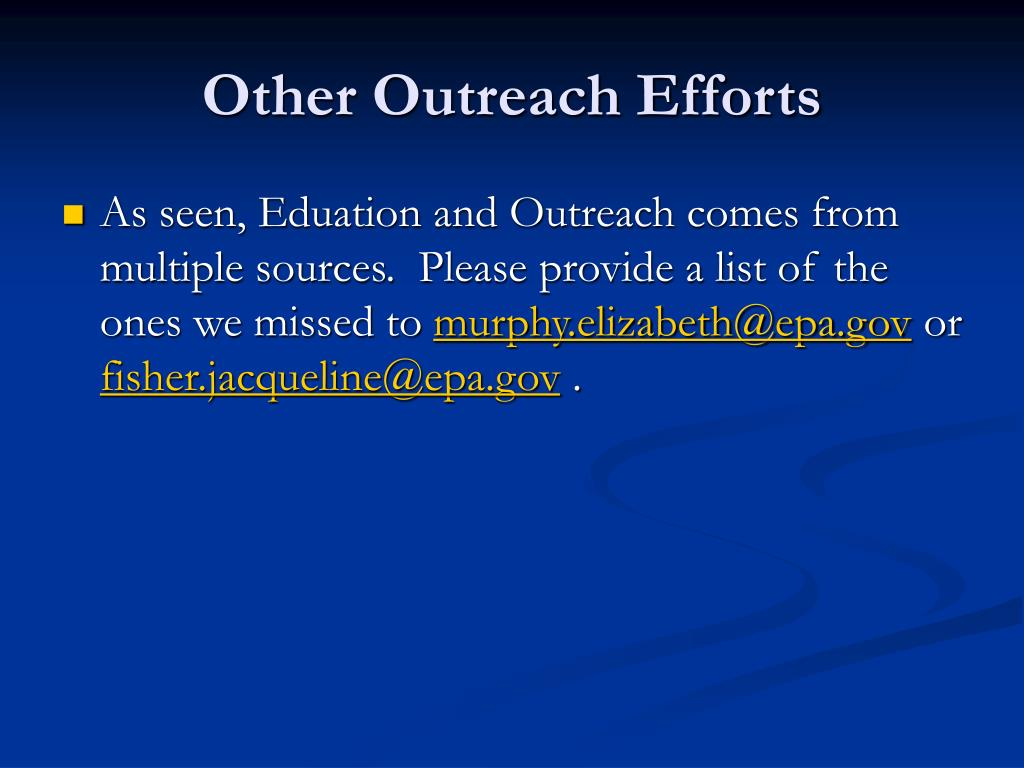Other Outreach Efforts