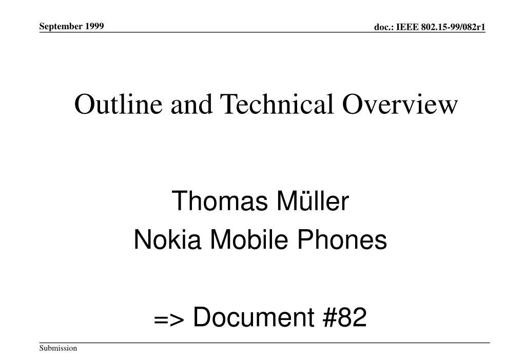 outline and technical overview l.