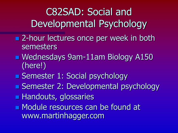C82sad social and developmental psychology2