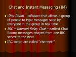 chat and instant messaging im