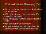 chat and instant messaging im17