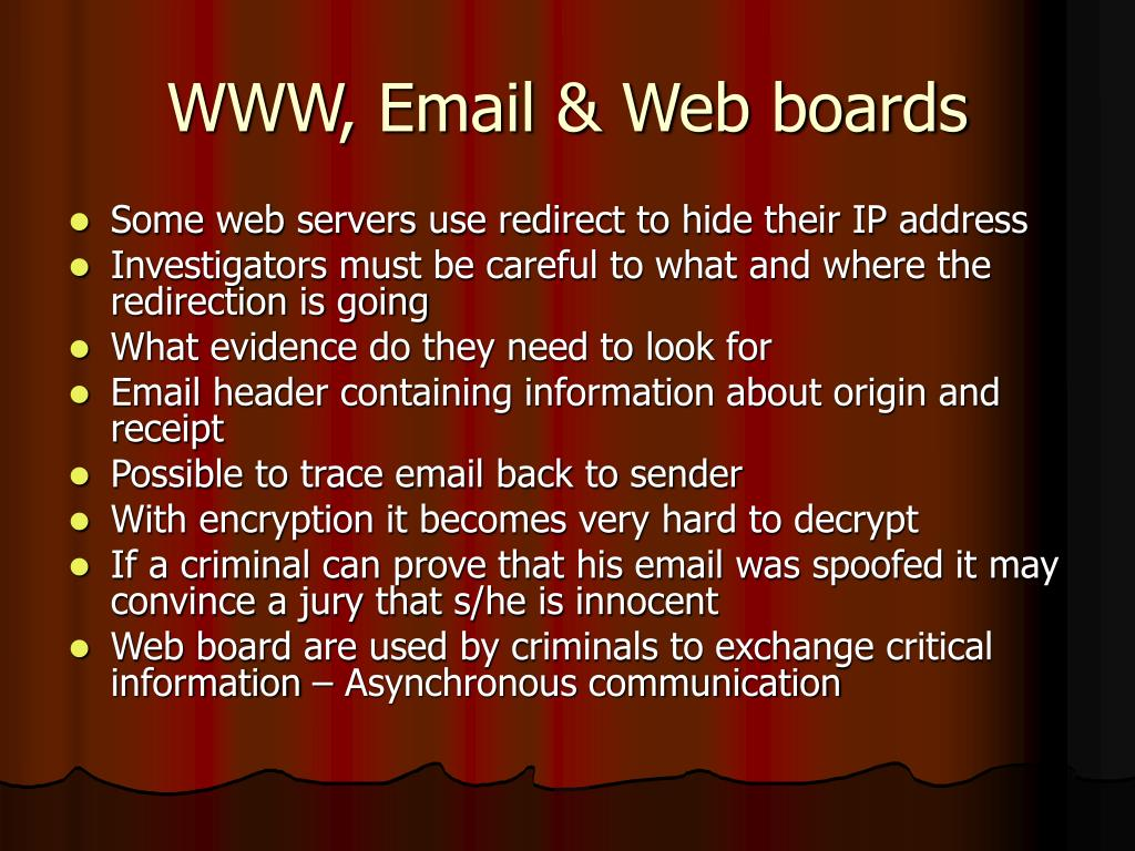 WWW, Email & Web boards