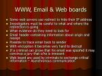 www email web boards