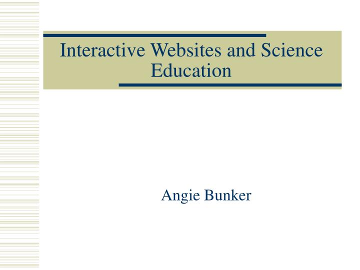 interactive websites and science education n.
