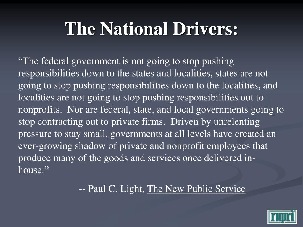 The National Drivers: