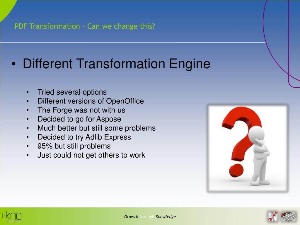 PDF Transformation – Can we change this?