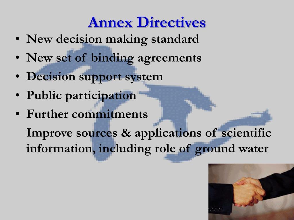 Annex Directives