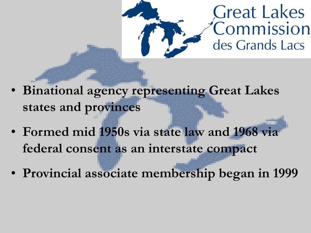 Binational agency representing Great Lakes states and provinces