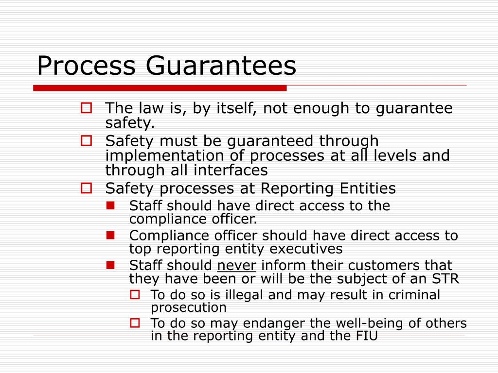 Process Guarantees
