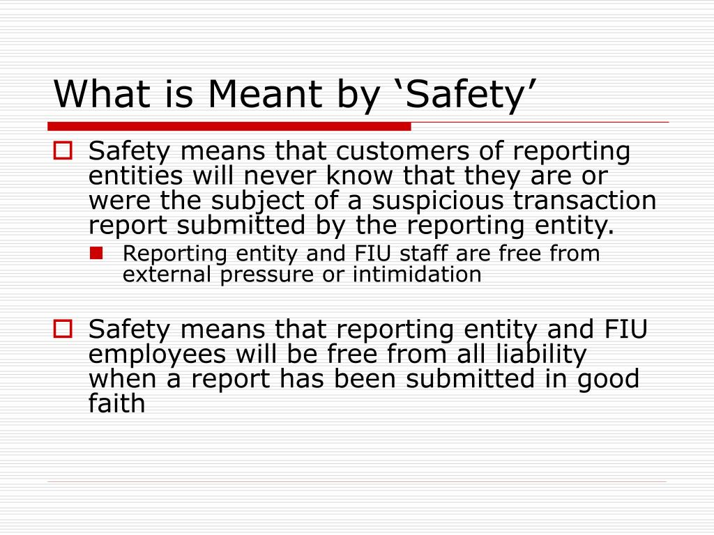 What is Meant by 'Safety'