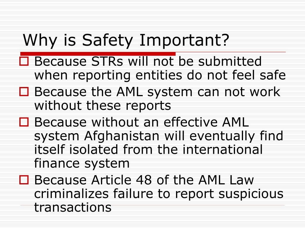 Why is Safety Important?