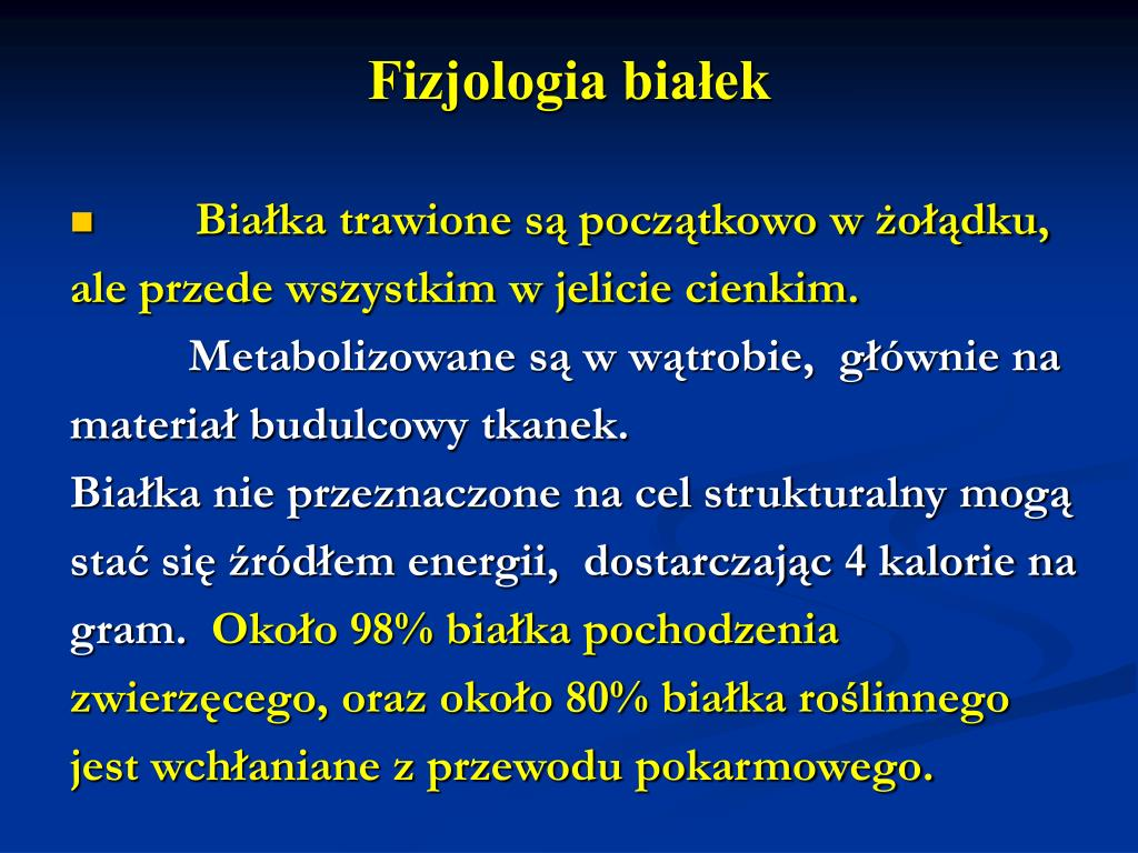 Fizjologia białek