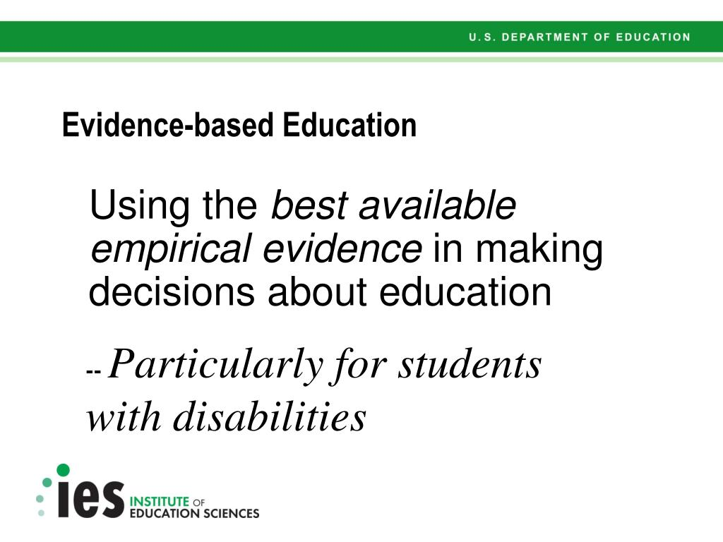 Evidence-based Education