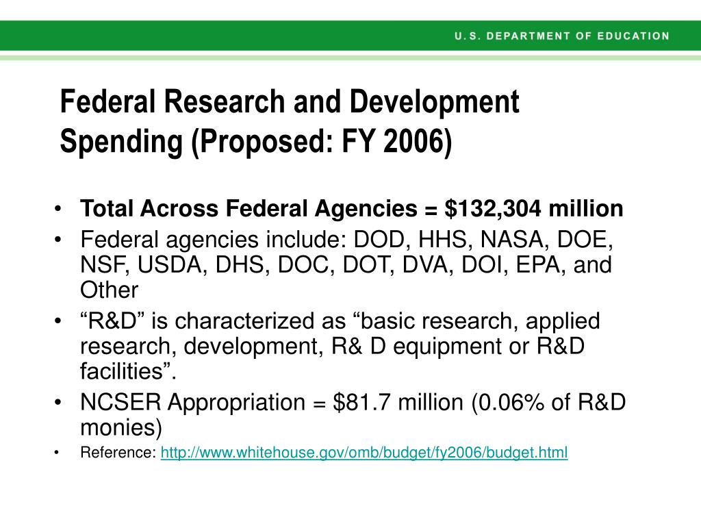 Federal Research and Development Spending (Proposed: FY 2006)