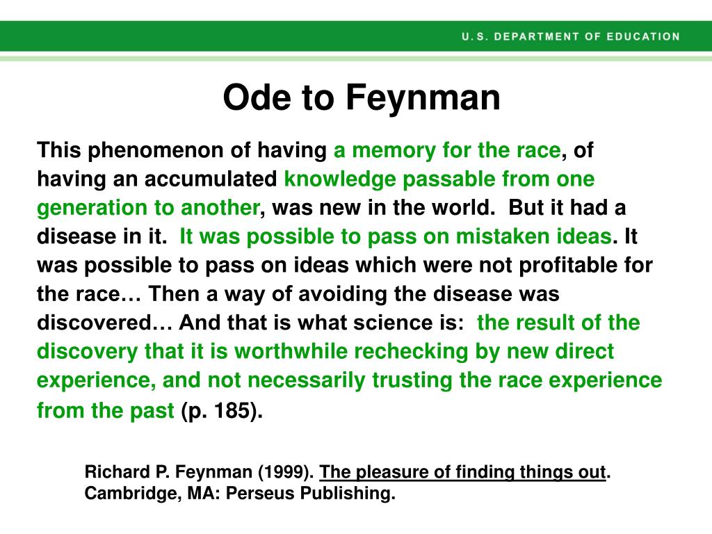 Ode to Feynman