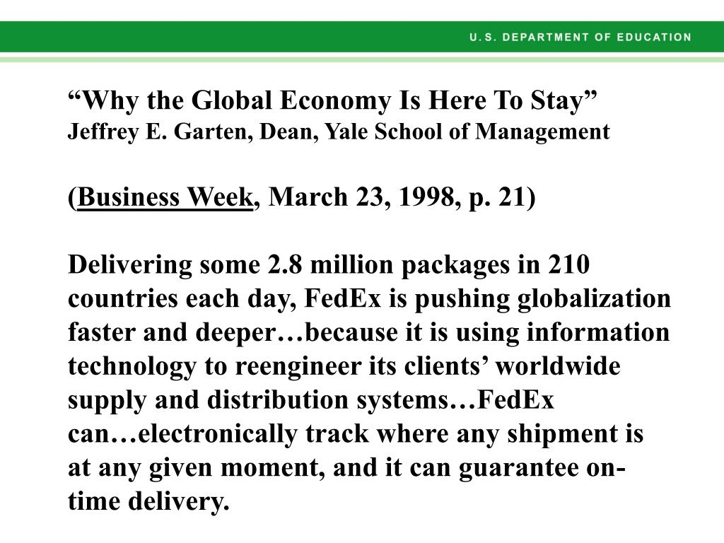 """""""Why the Global Economy Is Here To Stay"""""""