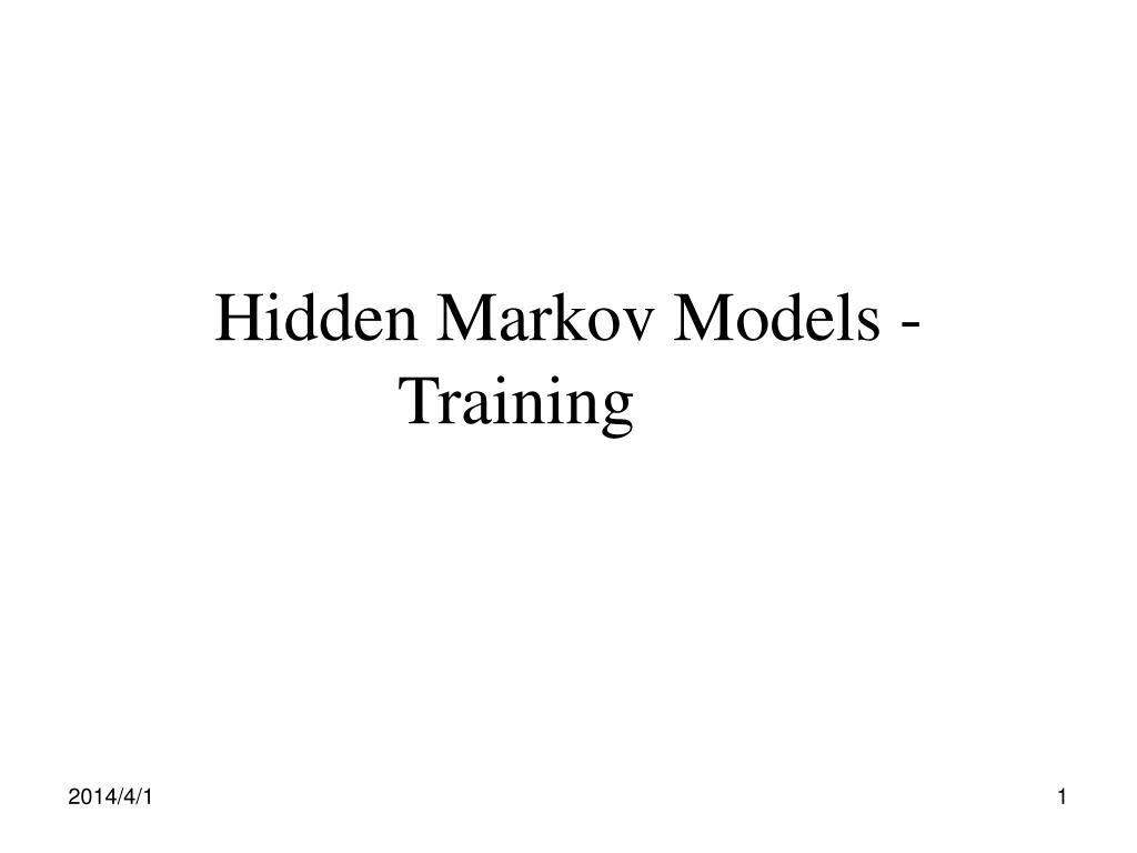hidden markov models training l.