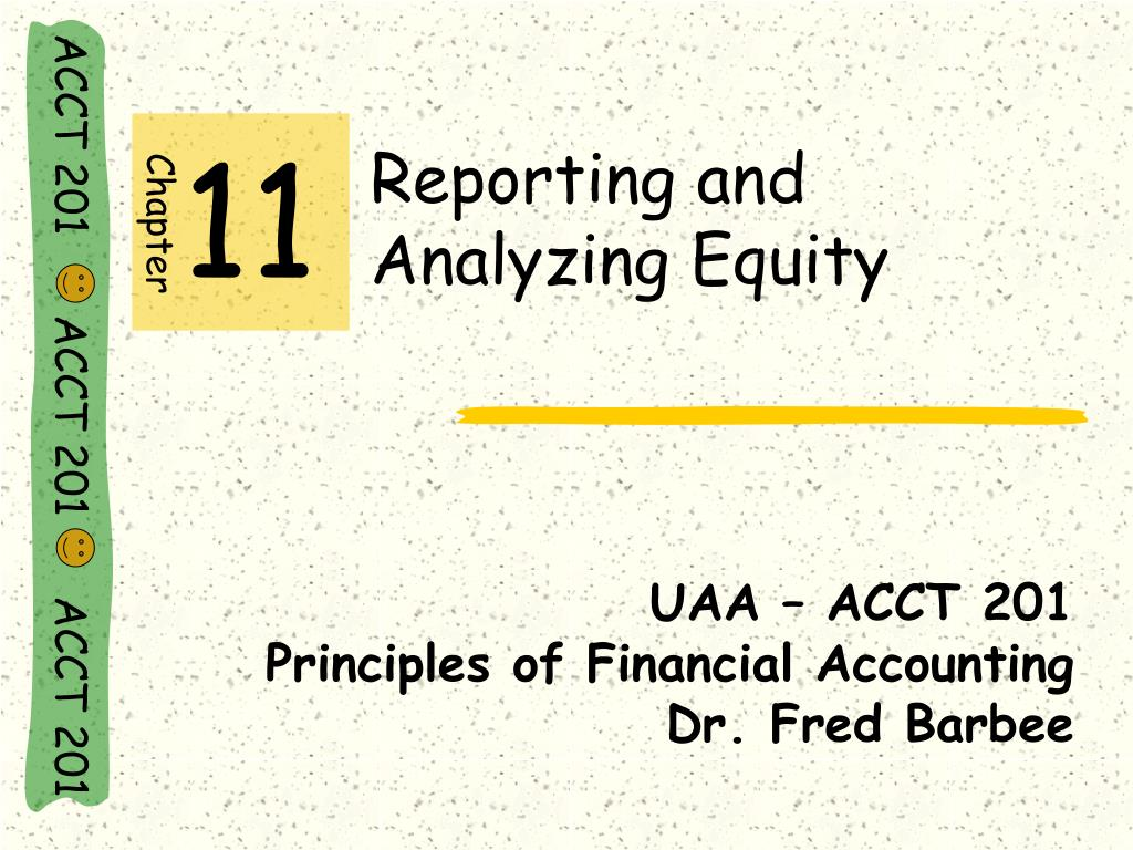 reporting and analyzing equity l.