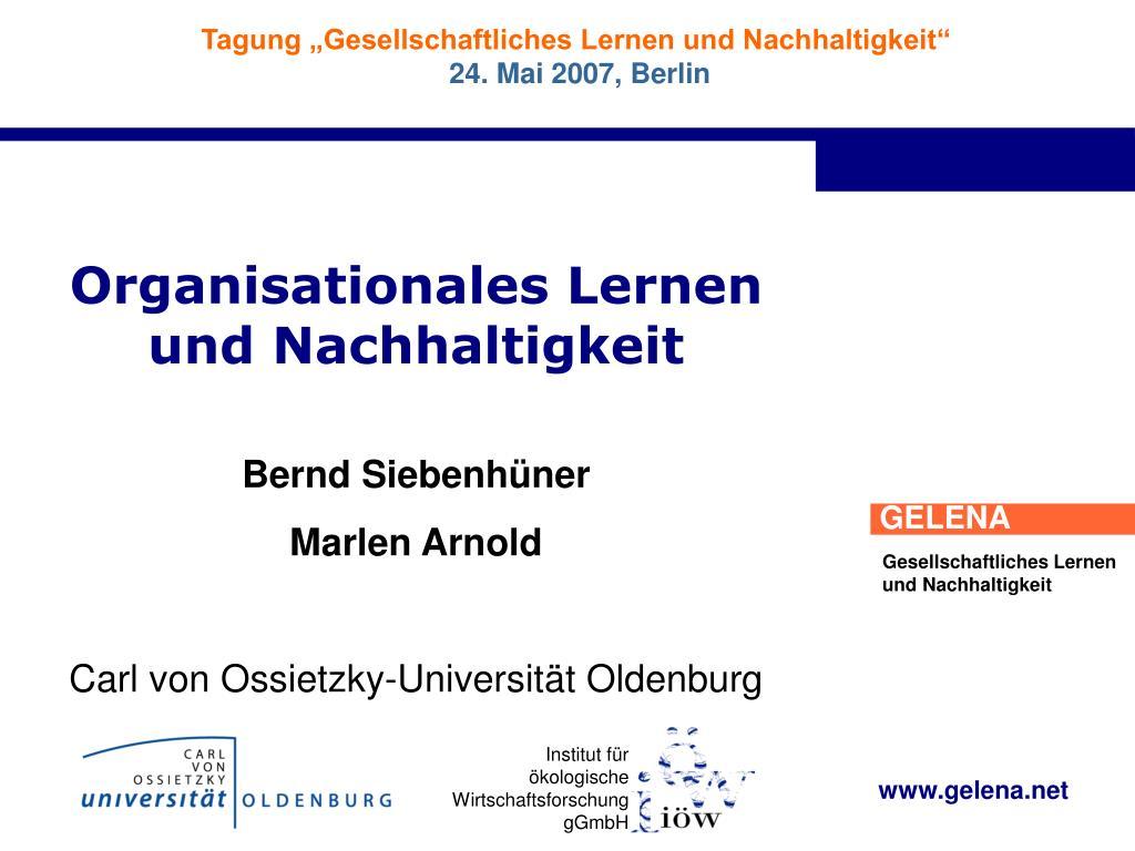 organisationales lernen und nachhaltigkeit l.