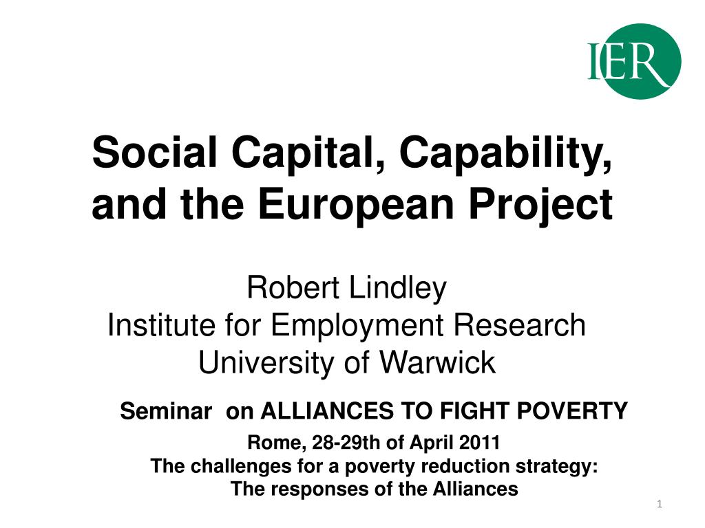 social capital capability and the european project l.