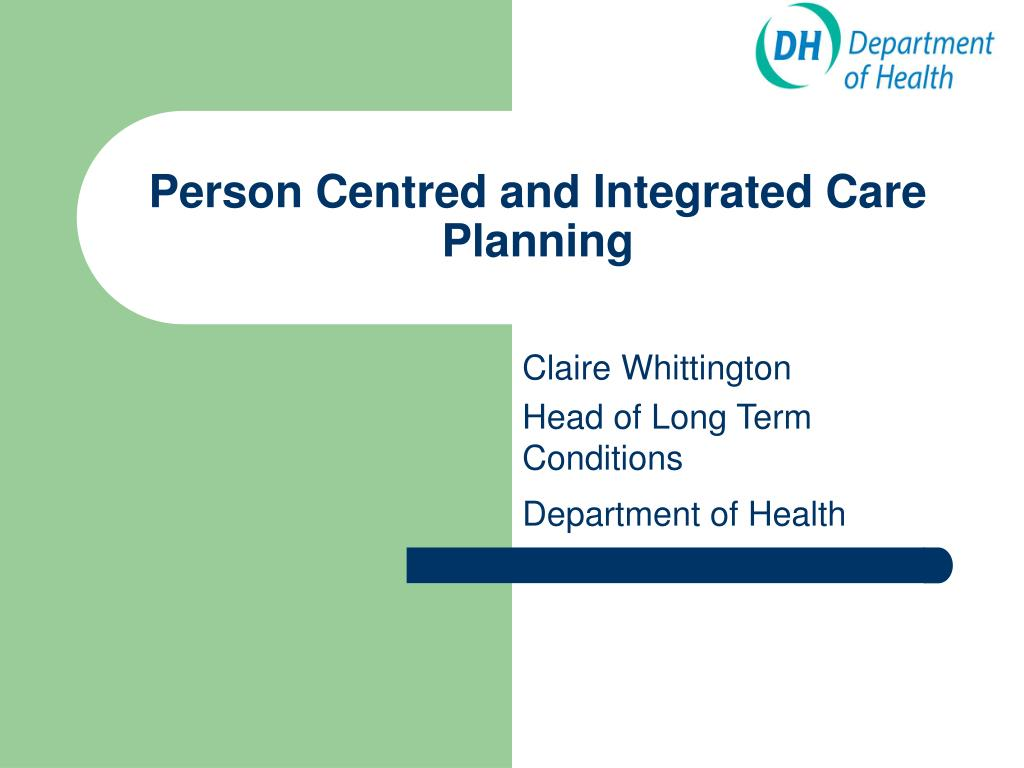Person Centred and Integrated Care Planning