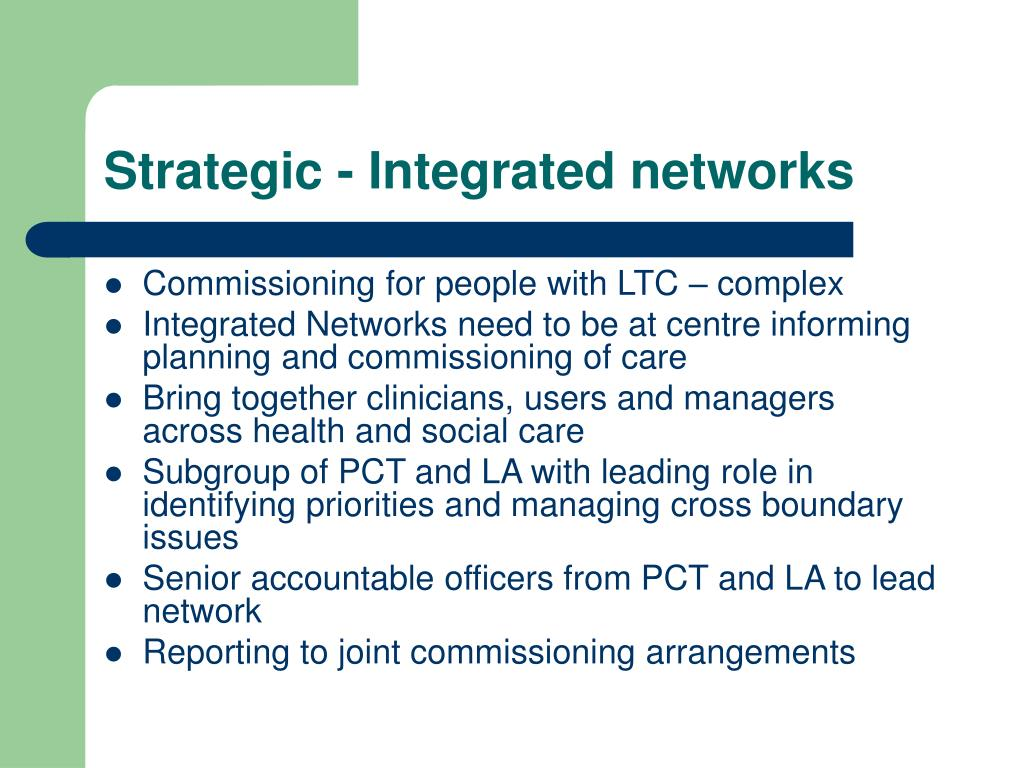 Strategic - Integrated networks