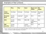 examples of flow products