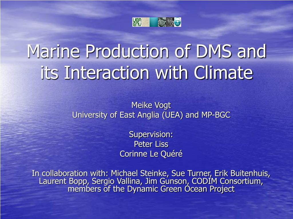 marine production of dms and its interaction with climate l.