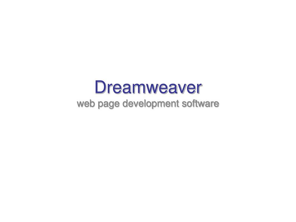 dreamweaver web page development software l.