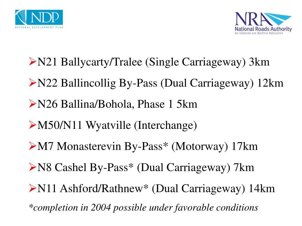 N21 Ballycarty/Tralee (Single Carriageway) 3km