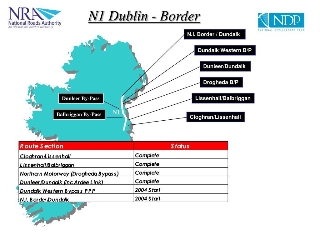 N1 Dublin - Border